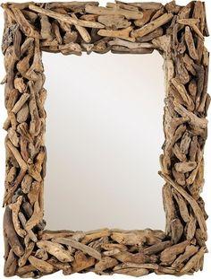 Καθρέπτης κρεμαστός απο μικρα ξυλα drift wood (80Χ60εκ).- JKG 132488 - Skroutz.gr Driftwood Art, Wooden Crafts, Mirror, Decoration, Wall, Furniture, Home Decor, Decor, Wood Crafts