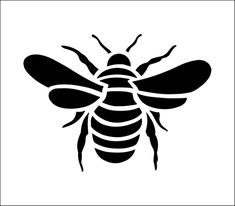 Bee Solo stencil from The Stencil Library online catalogue. Buy stencils online. Stencil code CS66.
