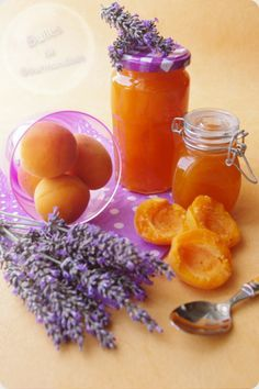 Confiture d'abricots et lavande... la Provence en pots !!!