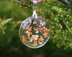 Real rose necklace. Romantic real roses flower hemisphere