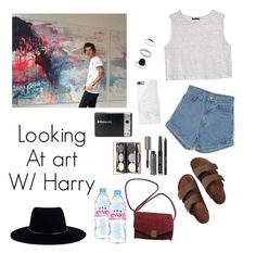"""""""Looking at art with Harry"""" by harrysfloral ❤ liked on Polyvore featuring Polaroid, MANGO, Birkenstock, Native Union, Bobbi Brown Cosmetics, Zadig & Voltaire, Evian, Miss Selfridge and Zimmermann"""