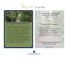 Week of 11/12/2012  Purposefulness