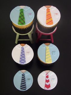 father's day cupcakes by Death By Cupcake