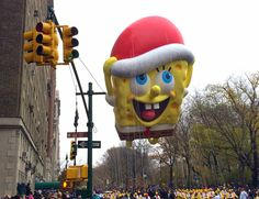 Spongebob Squarepants Balloon at the 88th Annual Macy's Thanksgiving Day Parade in New York City.