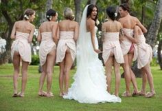 Officially the most hilarious/inappropriate wedding picture i've ever seen! haha