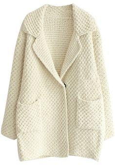 oversized knit sweater cardigan