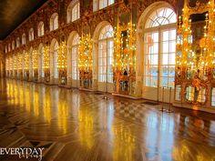 Le Grand Hall (4) - Palais Catherine - Tsarskoie Selo - Réalisé par Bartoloméo Rastrelli en 1756.