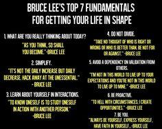 I love Bruce Lee's philosophies!