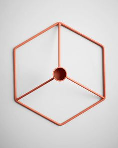 POV Table Candleholder in Terracotta by Menu
