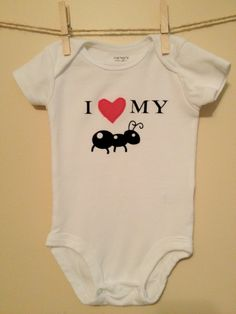 I love my Aunt Onesie by thelittlebrownboot on Etsy, $15.00 @Ally Squires Elcess Conley this would be awesome if it was Carvers size lol