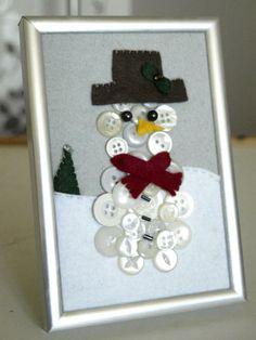 hóember gombokból Hóember gombokból