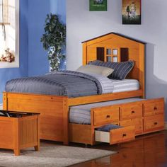 Find it: http://wkup.co/cash_back/ODI1MDU2Mjc5/MTA1NTI5NQ==    Jacob Twin Barn Bed with Trundle in Oak