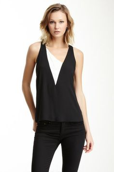 Contrast Inset Tank by Eight Sixty on @HauteLook