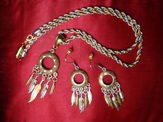 Native American Silver and Gold jewelry set. $23.99