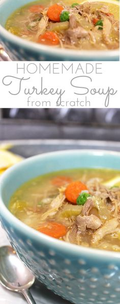 If you've ever tasted a heartyHomemade Turkey Soup you know it's chock full of fresh flavor and nutrition. The tantalizing aroma of turkey soup simmering the day after a big holiday meal is mouthwatering! Best Turkey Soup, Slow Cooker Turkey Soup, Turkey Soup From Carcass, Creamy Turkey Soup, Homemade Turkey Soup, Leftover Turkey Soup, Recipe For Turkey Soup, Instant Pot Turkey Soup, Healthy Soup Recipes