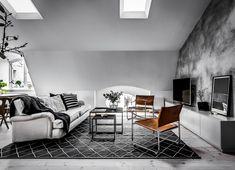 Här sitter du snyggast just nu Duplex, Decoration, Kitchen Dining, Living Room, Interior Design, Wall, Furniture, Home Decor, Attic
