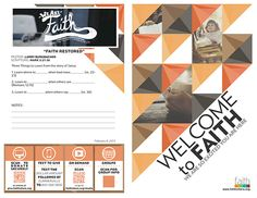 Faith Bulletin Redesign on Behance
