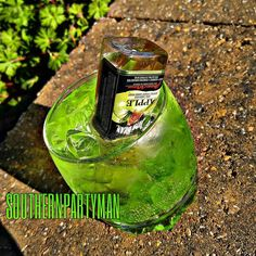 Bonita Applebum  1 oz Sour Apple Pucker 1/2 oz Peach Schnapps Sour Apple Gummy…