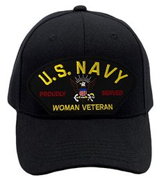 8ee5777dba3 Check Patchtown US Navy - Woman Veteran Hat Ballcap Adjustable One Size  Fits Most.