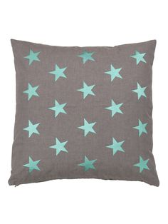 Cute pillow with turquoise stars