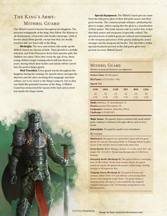 The King's Army: Mithril Guard