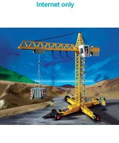 Playmobil Crane Intergrated steering - 6 different moves! http://www.comparestoreprices.co.uk/action-figures/playmobil-crane.asp