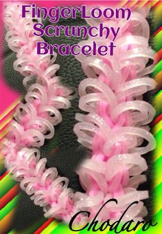 New Fingerloom Scrunchy Bracelet. Finally got a chance to play around with the Fingerloom! Pretty cool way to loom! Tutorial can be done if requested.