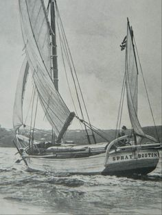 "Joshua Slocum was the first man to sail single-handedly around the world. On April 24, 1895, at the age of 51, he departed Boston in his tiny sloop ""Spray"" ..."