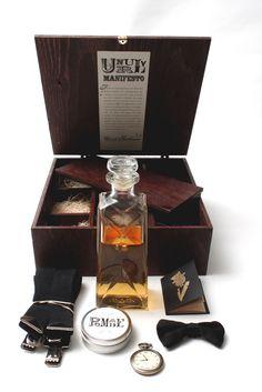 Unruly Gentlemen: Prohibition Survival Kit by Nathan Wojtach, via Behance