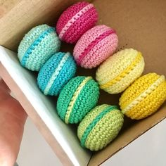 A personal favourite from my Etsy shop https://www.etsy.com/ie/listing/500724938/crochet-macaroons-crochet-sweets
