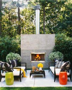 AuBergewohnlich Outdoor Fireplace Photo Roger Davies Terrasse Dekorieren, Sitzplatz Im  Garten,