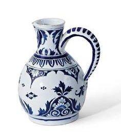 Delft blue jar, 18th century