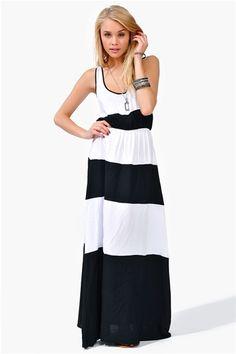 Hedi Dress - Black/White