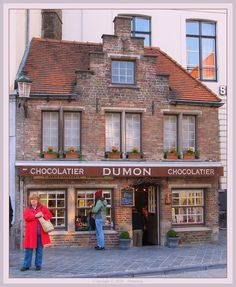 Brugge Belgium chocolate shop. Very tiny place just outside the Market Square, but my goodness, the chocolate is heavenly!