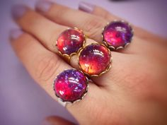 Dragons Breath Fire Opal ring by lotusfairy on Etsy