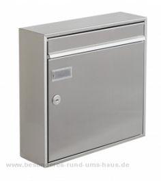 Edelstahl Briefkasten MEMPHIS von Max Knobloch - D2200x online kaufen in unserem Shop   www.besonderes-rund-ums-haus.de