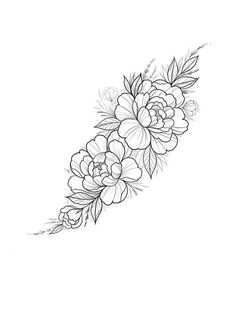Tattoos Tattoo sketch by Cathy Ma. Sketch Tattoo Design, Floral Tattoo Design, Flower Tattoo Designs, Tattoo Sketches, Flower Tattoos, Tattoo Drawings, Feminine Shoulder Tattoos, Shoulder Tattoos For Women, Cool Small Tattoos