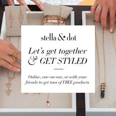 Let's get styled! Host a trunk show and earn lots of great perks!