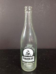 Vintage Squeeze Soda Bottle National Fruit New Orleans LA Sturgis MI