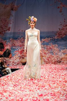 """Claire Pettibone """"Earthly Paradise"""" 2013 Collection, seen on Merci New York, a fashion blog for brides - http://mercinewyork.blogspot.com/2012/10/claire-pettibones-new-wedding-dress.html#"""