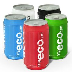 ECO-friendly, portable, and reusable water bottle in the shape of a can! Pretty cool!