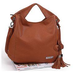 New Arrival Brown Zipper Design One-Shoulder Bag/Handbag For Female, BROWN in Shoulder Bags | DressLily.com