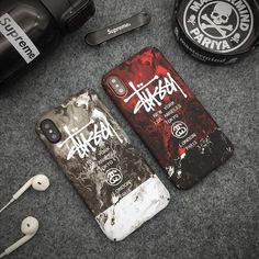 クールなステューシー iphoneX/8/カバーで、大理石柄の夜光のハードケースで、ご愛機を個性にされ、ストリート風のアイフォンケースで、かっこいいあなたにおすすめ。