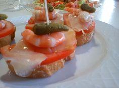 pintxos de langostinos con bacalao ahumado | Más que tartas