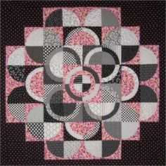 Illusions of movement and dimension. Pass on the Circle of Hope. The unique quilt pattern includes directions for curved piecing. Designed for intermediate quilters. Quilting Projects, Quilting Designs, Sewing Projects, Quilting Patterns, Patchwork Quilting, Quilt Baby, Circle Quilt Patterns, Circle Pattern, Drunkards Path Quilt