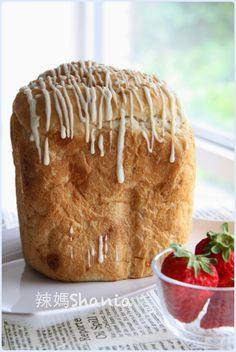 辣媽Shania: 「麵包機」草莓戀人 -- 草莓白巧克力土司