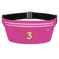 Womens Waterproof Chance The Rapper Number 3 Running Belt * To view further for this item, visit the image link.