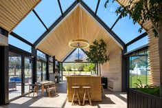 This South African Farm Retreat Has a Spaceship for a Chapel designed by U. Modern Barn House, Modern House Design, Modern Buildings, Modern Architecture, Minimalist Architecture, Wooden Terrace, Bauhaus, Planer, Cottage