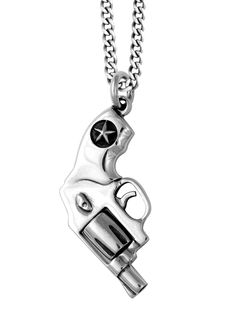 Small Revolver Pendant in Sterling Silver by King Baby Studio Silver Man, Silver Stars, 925 Silver, Sterling Silver, London Clothing Stores, King Baby Jewelry, Bullet Earrings, Designer Kids Clothes, Fancy