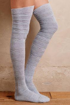 Fairisle Over-The-Knee Socks | Pinned by topista.com